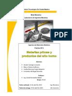 Materias primas y Productos del alto horno