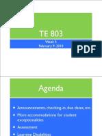 Te803-Feb 9-Assess and Adapt