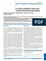 Characterization of the carbides in the steel X20CrMoV12.1 used in thermal power plants