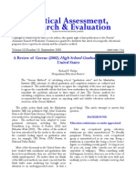 A Review of Greene (2002) High School Graduation Rates in the United States