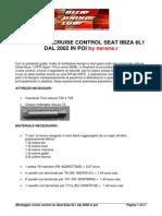 Montaggio Cruise Control Seat Ibiza 6L1