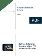 Software Selection CriteriaSoftware Selection Criterias