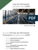 Nuevas Normas de Información Financiera Aplicables Para