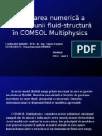 Modelarea Numerică a Interacțiunii Fluid Structură În COMSOL Multiphysics