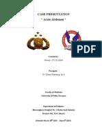 Case Presentation Acute Abdomen Pediatric