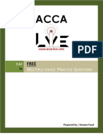 www.acca-live.com | CAT - T6 Drafting Financial Statements - Multiple Choice Practice Questions