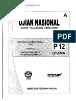 Naskah Soal UN Bahasa Indonesia SMA 2010 (Paket 12)