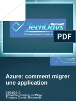 CLO301 - Windows Azure Comment Migrer Une Application