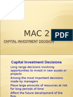Capital Investment Mac2