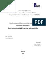 Proiect Planificarea si Modelarea Dezvoltarii Rurale si Regionale