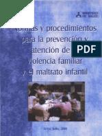 Normas y Procedimientos Prevencion Violencia Familia MaltratoInfantil