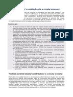 Príspevok FoodDrinkEurope k Cirkulárnej Ekonómii, 15.05.2015