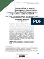 El Conflicto Social EnLa Fase De Ejecucion De Proyectos