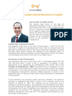 Know All About Latest Judicial Decisions on Capital Gains