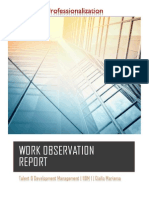 portfolio work observation report