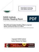 PCI DSS and Incident Handling