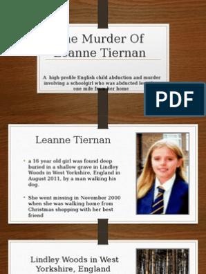 The Murder Of Leanne Tiernan pptx | Criminal Law | Misconduct