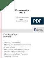 Econometrics Part 1