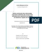 Efeitos estruturais das sobrecargas rodoviárias definidas das normas mais utilizadas pela engenharia portuguesa em tabuleiros vigados de betão