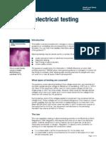 Electrical Testing at Work