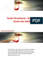 Youth Devotional - Bringing Home the Gold