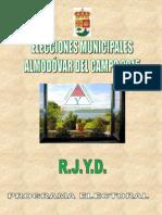 Presentación RJYD Para Elecciones Municipales Almodóvar Del Campo 2015