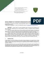 Development of Xbloc Concrete Breakwater Armour Units Canada 2003