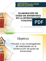 Elaboracion de Guias de Entrevista en La Investigacion Cualitativa