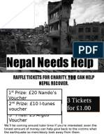 Nepal Earthquake Flyer