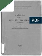 Zamora en La Guerra de Independencia