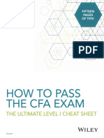 How to Pass the Cfa Exam eBook