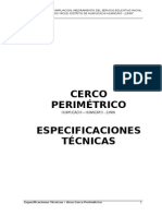 Especificaciones Tecnicas de Cerco Perimetrico