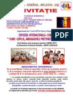 1. INVITATIA Expozitia Internationala - Concurs - 1 IUNIE 2015