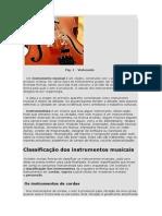 O Que São Instrumentos Musicais