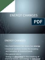 Level 2 Chemistry - Energy Changes