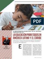 La educación para todos en América Latina y el Caribe