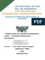 Trabajo Grupal de Economía Internacional i