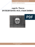 Angelo Tasca - Interviste Sul Fascismo