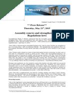 Rent Regulations Legislation 2015