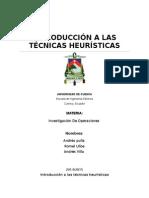 Introduccion a Las Tecicas Heuristicas
