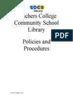 tccs library policies and procedures