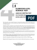 Grade 4 Science test
