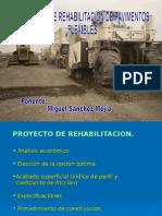 III. Proyecto de Rehabilitación.