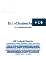 2015 Vermont End of Session Report - FINAL