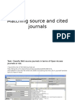 9. Matching Source and Cited Journals
