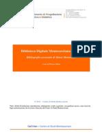 BDM Bilbliografia Essenziale MM
