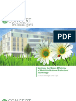 Maximize the Green Efficiency of Multi Site National Rollouts of Technology