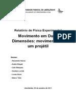 Relatório Física Experimental - Movimento de Um Projétil