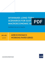 ADB _ Myanmar - Long-Term Scenarios for Sustained Macroeconomic Growth _ April 2015 _ Ewp-429