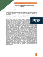 Cinética de Producción de Ácido Lácticos